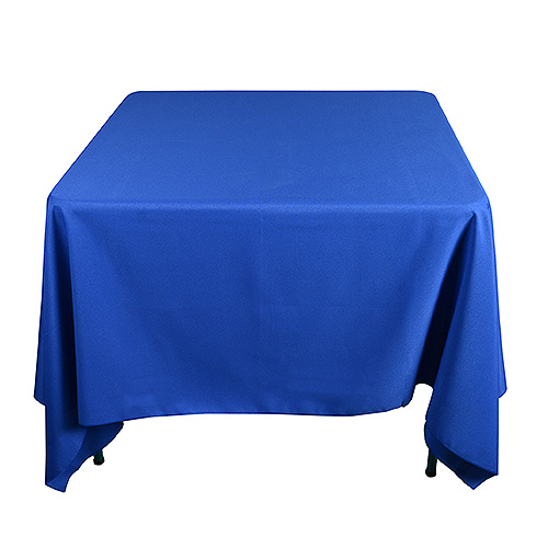 Square tablecloths polyester square tablecloths bbcrafts for 85 square tablecloth