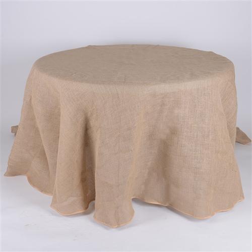 120 Inch Fine Rustic Jute Burlap Round Tablecloths