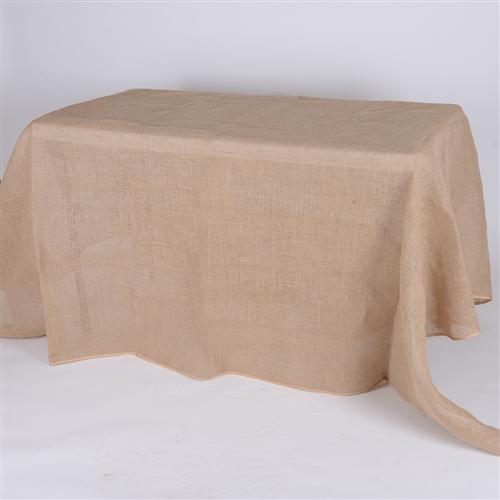 90x132 Inch Fine Rustic Jute Burlap Rectangle Tablecloths