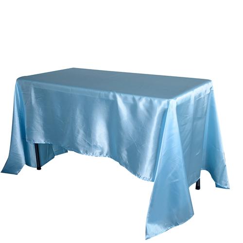 Light Blue 60 x 126 Inch Rectangular Tablecloths