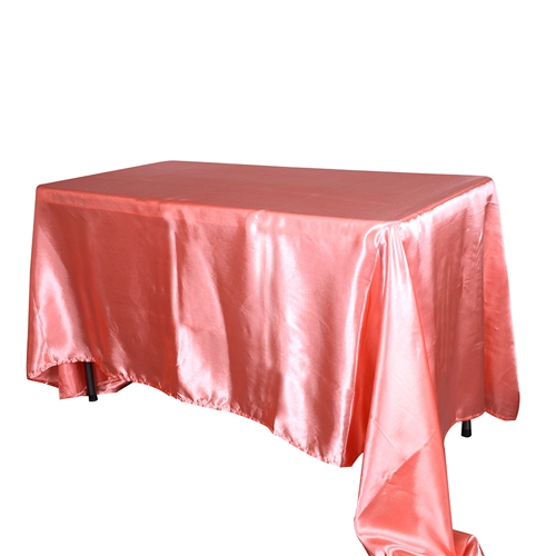 Coral 90 x 132 Inch Rectangular Tablecloths
